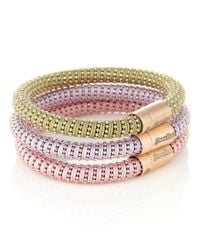 Carolina Bucci | Metallic Rose Gold Plated Twister Bracelets | Lyst