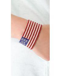 Chan Luu - Red American Flag Bracelet - Lyst