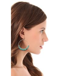 Chan Luu - Blue Hoop Earrings - Lyst