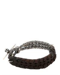Emanuele Bicocchi - Black Wire Bracelet for Men - Lyst