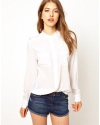 Equipment | White Signature Silk Shirt | Lyst