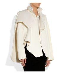 Esteban Cortazar | White Cape-Back Wool-Blend and Duchess Satin Jacket | Lyst