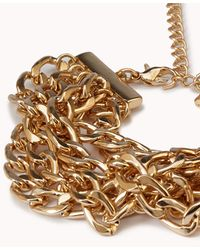 Forever 21 | Metallic Braided Curb Chain Bracelet | Lyst