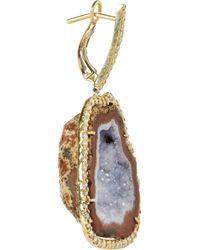 Kimberly Mcdonald - Blue 18karat Gold Geode and Diamond Earrings - Lyst