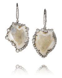 Kimberly Mcdonald - Metallic 18karat Blackened White Gold Diamond and Geode Earrings - Lyst