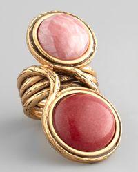Oscar de la Renta - Pink Two Cabochon Ring - Lyst