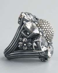Stephen Dweck - Metallic Silver Citrine And Diamond Flower Ring - Lyst