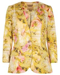 Ted Baker | Natural Nerys Tea Party Print Jacket | Lyst