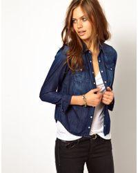 05c5fab80 Lyst - Hilfiger Denim Hilfiger Denim Western Shirt in Blue