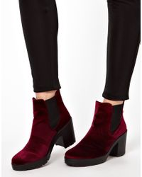 ASOS - Red Absolute Chelsea Ankle Boots - Lyst