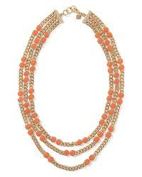 Banana Republic - Orange Colorful Stone Layer Necklace - Lyst
