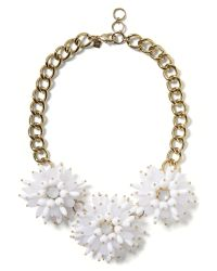 Banana Republic - White Dahlia Burst Necklace - Lyst