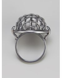 Bottega Veneta - Metallic Mesh Ring - Lyst