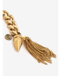 Ela Stone | Metallic Tassel Spike Chain Bracelet | Lyst