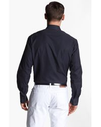 Ferragamo   Black Dobby Trim Fit Sport Shirt for Men   Lyst