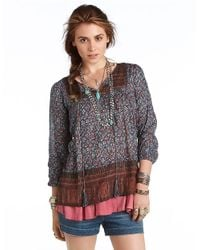 Free People   Black Dream Lover Tunic   Lyst