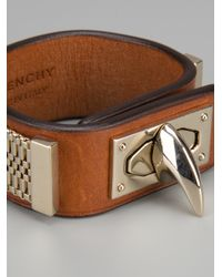 Givenchy - Brown Shark Turn Lock Bracelet - Lyst