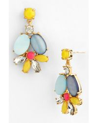 kate spade new york | Multicolor Bungalow Bouquet Cluster Drop Earrings | Lyst