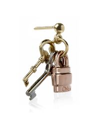 Chloé - Pink Paddington Keys Earrings - Lyst