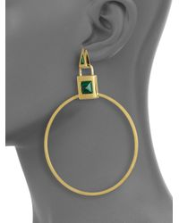Eddie Borgo - Metallic Malachite Padlock Earrings - Lyst