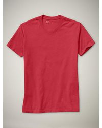 Gap - Red Essential Crewneck T-shirt for Men - Lyst