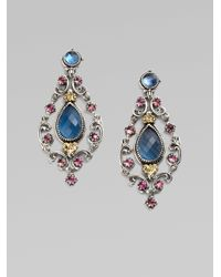 Konstantino | Blue Semi-precious Multi-stone Chandelier Earrings | Lyst