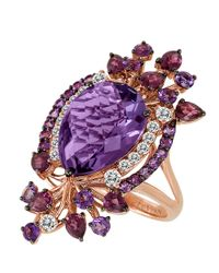 Le Vian - Purple Multicolor Amethyst Ring In 14k Strawberry Gold - Lyst