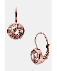 MICHAEL Michael Kors | Pink Michael Kors Botanicals Drop Earrings | Lyst