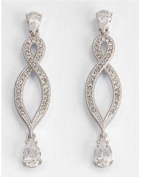 Nadri - Metallic Infinity Drop Earrings - Lyst