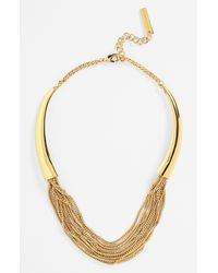 Vince Camuto | Metallic Louise Et Cie Crystal Center Gold Collar Necklace | Lyst