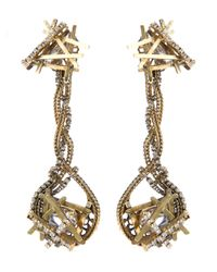 Erickson Beamon - Metallic Razor Edge Earrings - Lyst