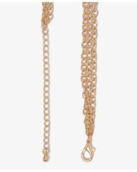 Forever 21 | Metallic Checker Bib Necklace | Lyst