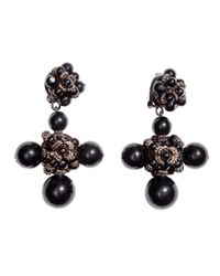 H&M | Black Large Clip Earrings | Lyst