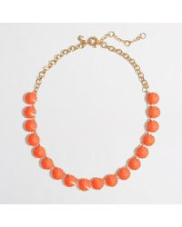 J.Crew | Orange Factory Brass-Plated Crystal Necklace | Lyst
