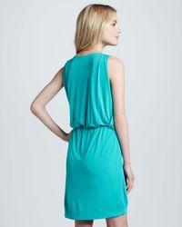 M Missoni | Blue Sleeveless Draped Jersey Dress | Lyst