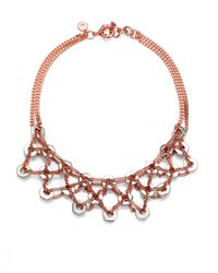 Marc By Marc Jacobs - Pink Bolts Bib Necklace - Lyst