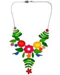 Tatty Devine - Multicolor Mexican Embroidery Necklace - Lyst