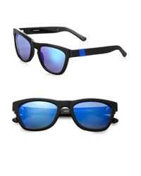 Westward Leaning - Black Color Revolutions Acetate Square Sunglassesblue - Lyst