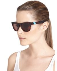 Westward Leaning - Brown Sleeping Beauty Acetate Square Sunglasses - Lyst