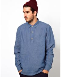 YMC | Blue Jacquard Shirt for Men | Lyst