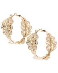 ASOS Collection | Metallic Limited Edition Paisley Filigree Hoop Earring | Lyst