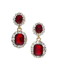 ASOS Collection - Red Limited Edition Vintage Look Jewel Earring - Lyst