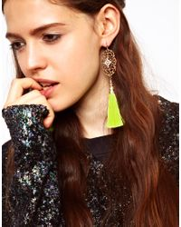 ASOS Collection - Metallic Limited Edition Filigree Tassel Earrings - Lyst