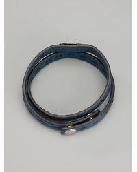 Fendi - Blue Double Wrap Bracelet for Men - Lyst