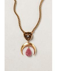 Nicole Romano - Metallic Jade Crescent Pendant Necklace - Lyst