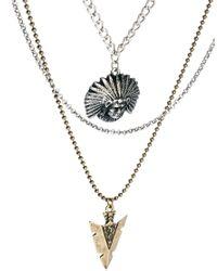 ASOS - Gray Multicoloured Necklace for Men - Lyst