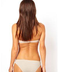 River Island - Natural Beige Dakota Zip Bikini Brief - Lyst