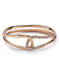 Alexis Bittar - Pink Liquid Rose Gold Interlocked Bracelet - Lyst