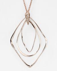 Alexis Bittar - Metallic Liquid Rose Gold Orbiting Pendant Necklace 32 - Lyst
