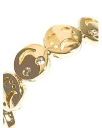 Alison Lou | Metallic Diamond and Gold Happy Sad Faces Ring | Lyst
